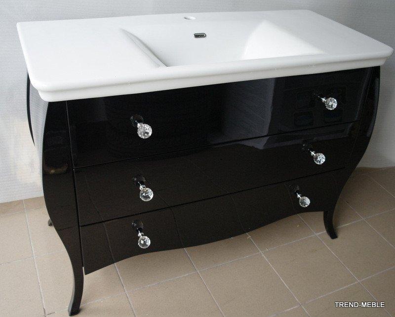 Komoda Do łazienki W Czarnym Połysku Stolarnia Trend
